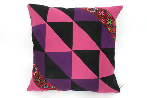 AKHA Triangles Double Belts Cushion Cover