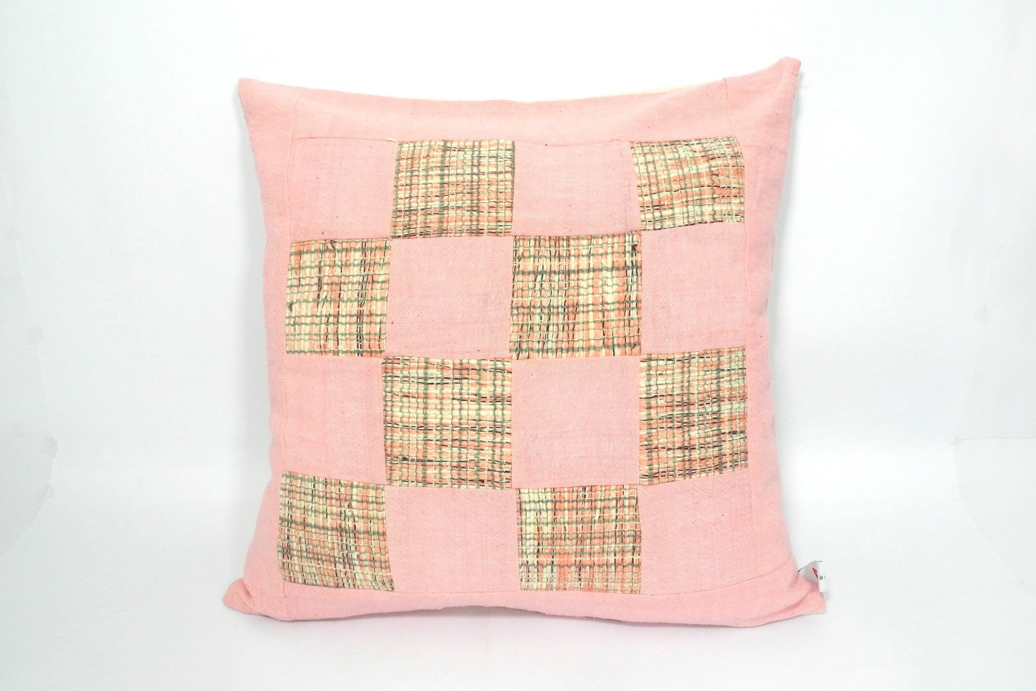 Squares and Checks Cushion Cover