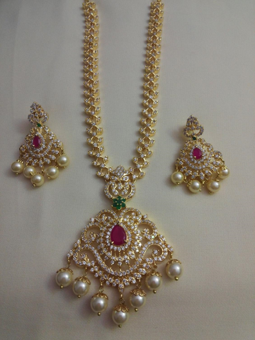 Cz multi necklace set
