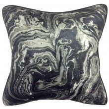 Mono Swirl Velvet Cushion