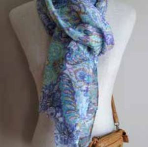 Scarf-Caravel Forget Me Not