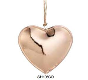 Copper Heart on String
