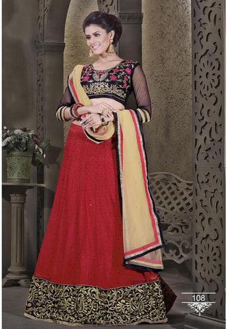 Alluring Red Color Designer Wedding Lehenga Choli