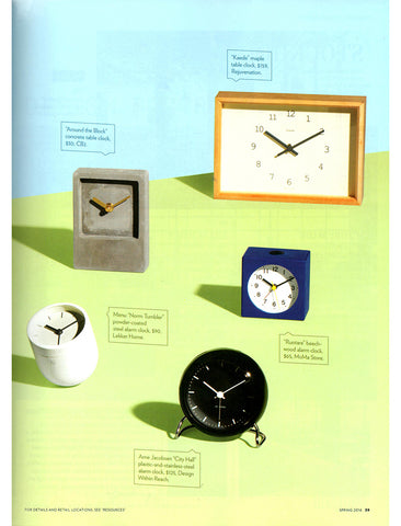 Boston Home Magazine - Norm Tumbler Alarm Clock - Lekker Home