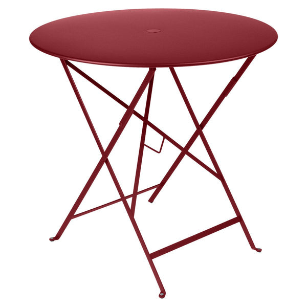 "Fermob - Bistro Folding Round Table - Chili Red / 30"" - Lekker Home"