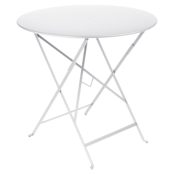 "Fermob - Bistro Folding Round Table - Cotton White / 30"" - Lekker Home"