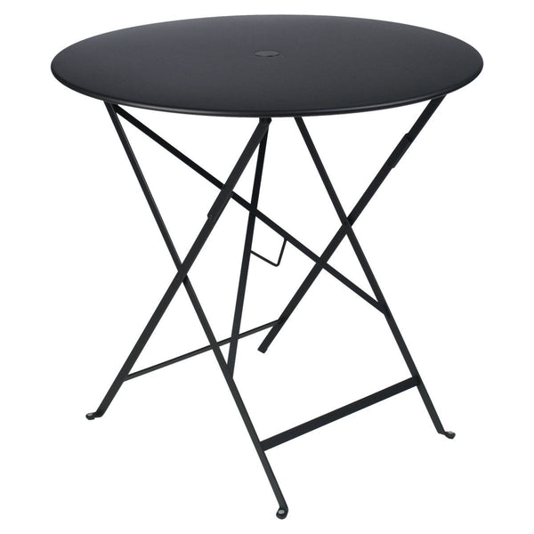 "Fermob - Bistro Folding Round Table - Liquorice / 30"" - Lekker Home"