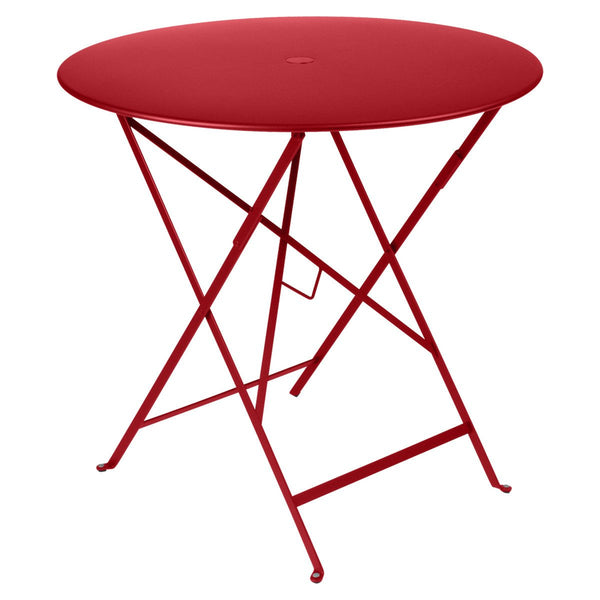"Fermob - Bistro Folding Round Table - Poppy Red / 30"" - Lekker Home"