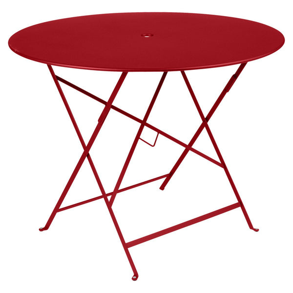 "Fermob - Bistro Folding Round Table - Poppy Red / 38"" - Lekker Home"