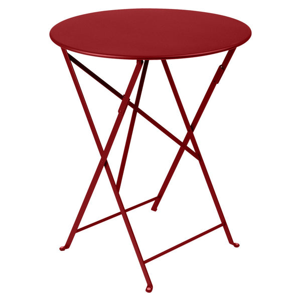"Fermob - Bistro Folding Round Table - Chili Red / 24"" - Lekker Home"