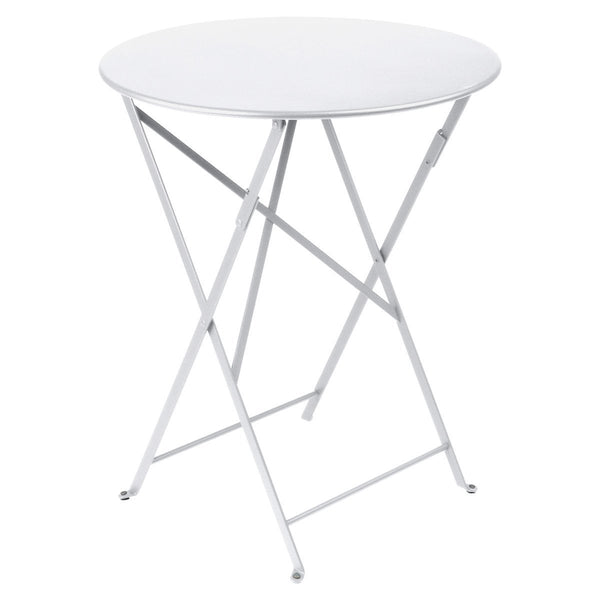 "Fermob - Bistro Folding Round Table - Cotton White / 24"" - Lekker Home"