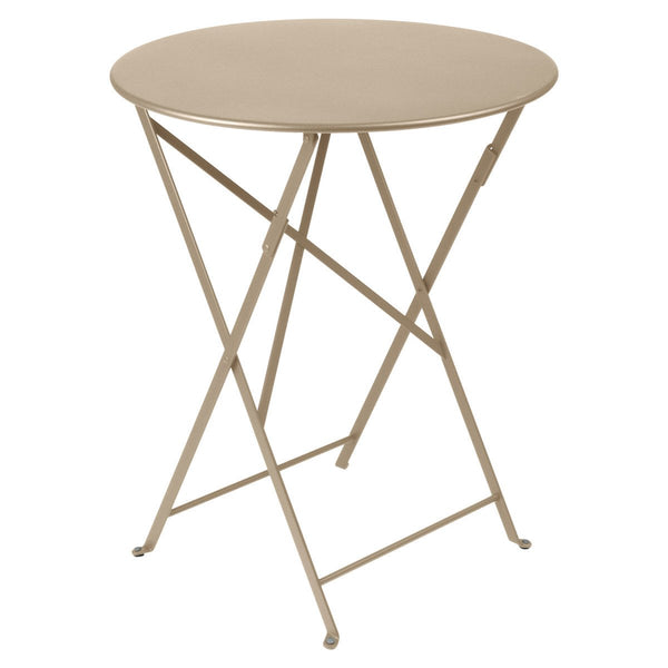 "Fermob - Bistro Folding Round Table - Nutmeg / 24"" - Lekker Home"
