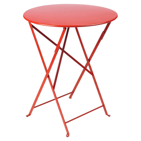 "Fermob - Bistro Folding Round Table - Poppy Red / 24"" - Lekker Home"
