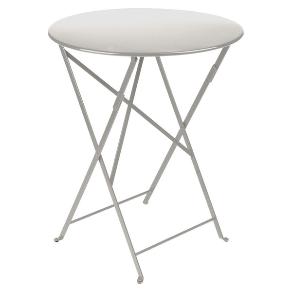 "Fermob - Bistro Folding Round Table - Steel Grey / 24"" - Lekker Home"