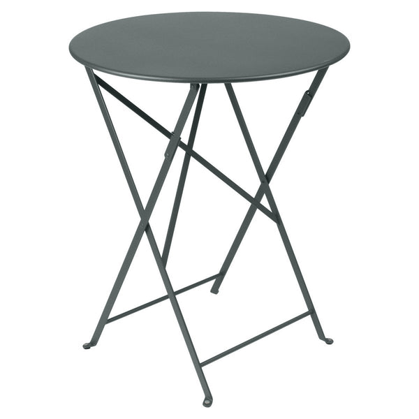 "Fermob - Bistro Folding Round Table - Storm Grey / 24"" - Lekker Home"