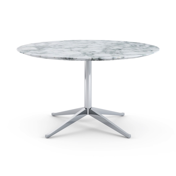 Knoll - Florence Knoll Table Desk Round - Arabescato Satin Marble / One Size - Lekker Home