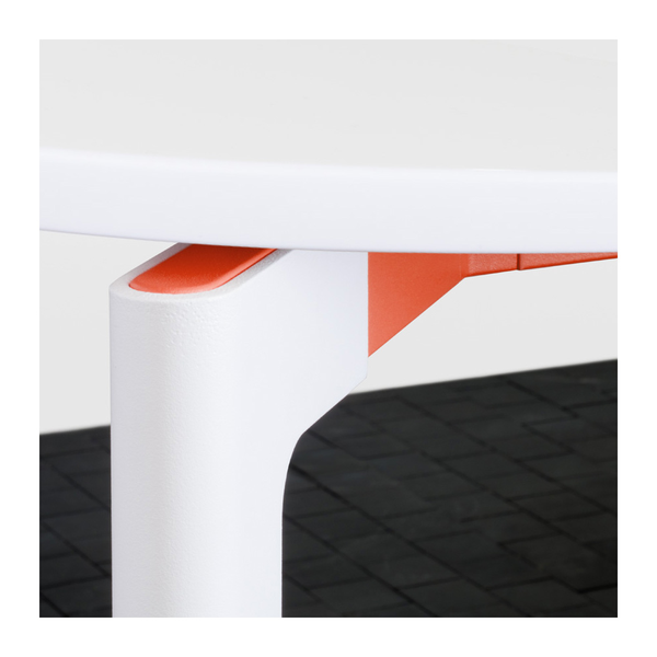 "Knoll - Stromborg Table Round 32"" - Orange / Bright White Laminate - Lekker Home"