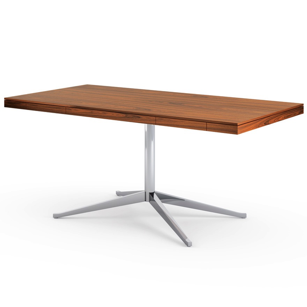Knoll - Florence Knoll Executive Desk - Polished Chrome / Teak - Lekker Home