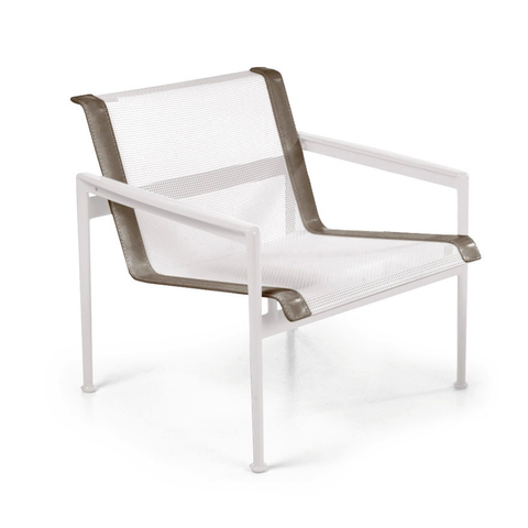 Knoll - 1966 Lounge Chair - Orange/White / One Size - Lekker Home