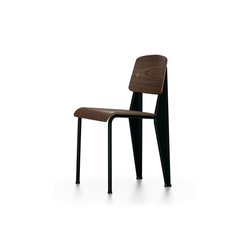 Vitra - Standard Chair - Deep Black / Black Pigmented Walnut - Lekker Home