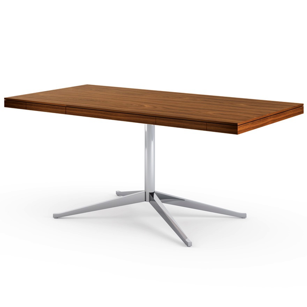 Knoll - Florence Knoll Executive Desk - Polished Chrome / Light Walnut - Lekker Home