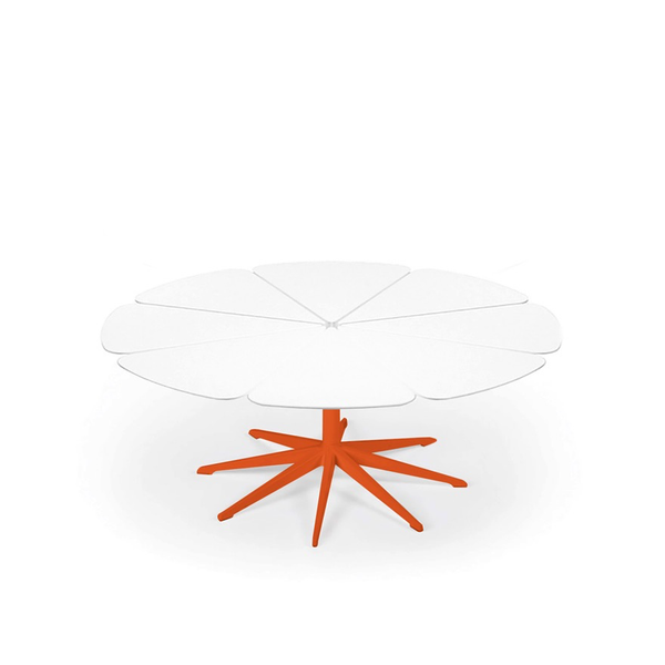 Knoll - Petal® Coffee Table - Orange / White Petals - Lekker Home