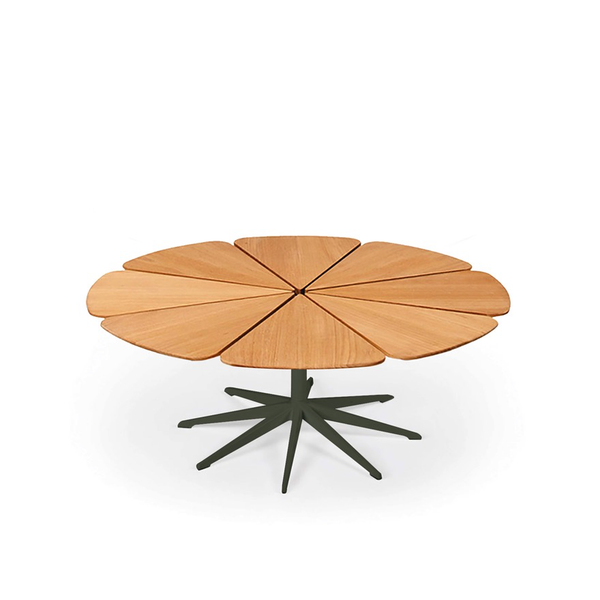 Knoll - Petal® Coffee Table - Green / Teak Petals - Lekker Home