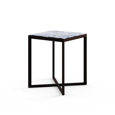 Knoll - Krusin Side Table - Medium - Clear Glass / Ebonized Oak - Lekker Home