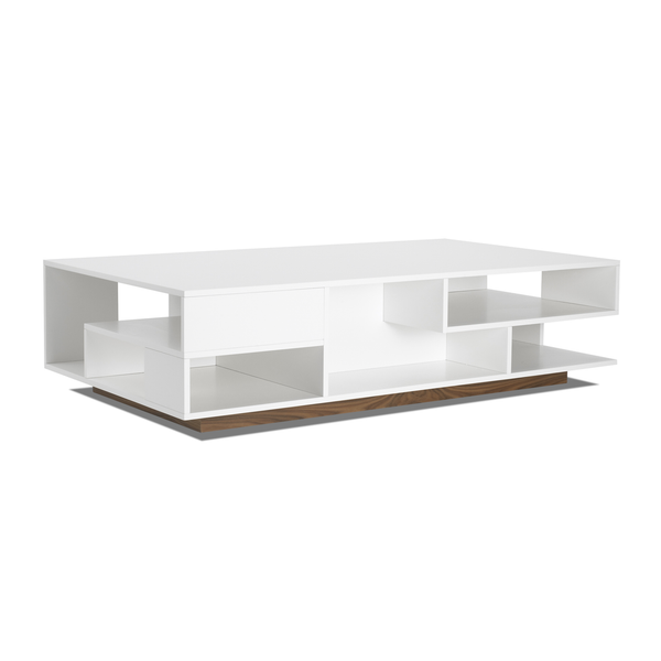 "Eilersen - Penthouse Coffee Table - Lacquered White Oak / 55"" - Lekker Home"