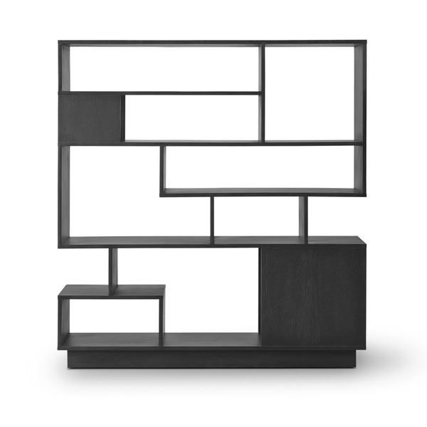 Eilersen - Penthouse Bookcase - Lacquered Black Oak / One Size - Lekker Home