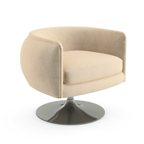 Knoll - D'Urso Swivel Chair - Stucco Hopsack / One Size - Lekker Home