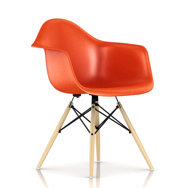 Herman Miller - Eames® Molded Fiberglass Armchair - Wood Dowel Base - Lekker Home - 6