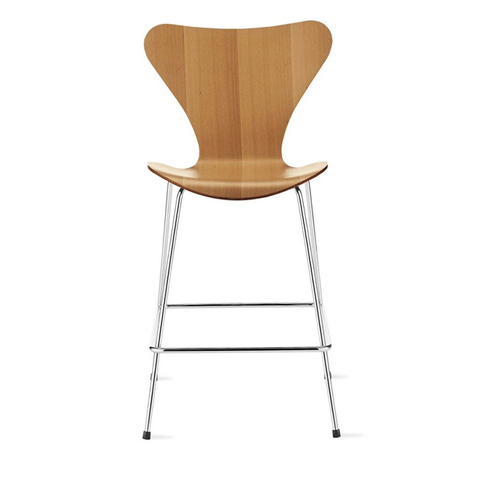 Fritz Hansen - Series 7 Stool - Wood - Lekker Home - 1