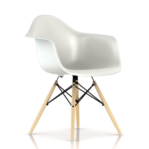 Herman Miller - Eames® Molded Plastic Armchair - Wood Dowel Base - Lekker Home - 1