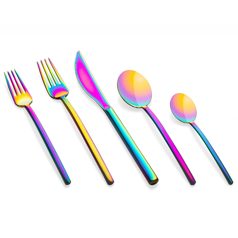 MEPRA S.p.A. - Rainbow Flatware & Serving Collections - Rainbow / Linea 5 Piece Place Setting - Lekker Home