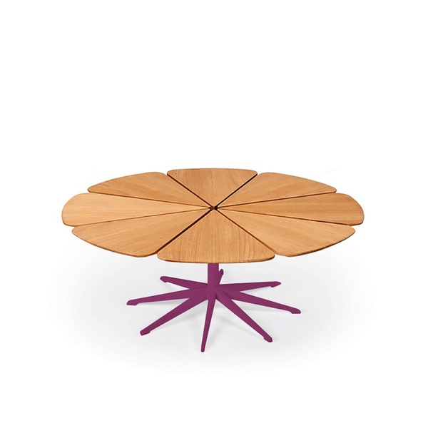 Knoll - Petal® Coffee Table - Plum / Teak Petals - Lekker Home
