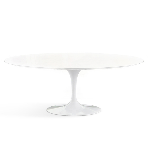 "Knoll - Saarinen Outdoor Dining Table Oval 78"" - Lekker Home - 1"