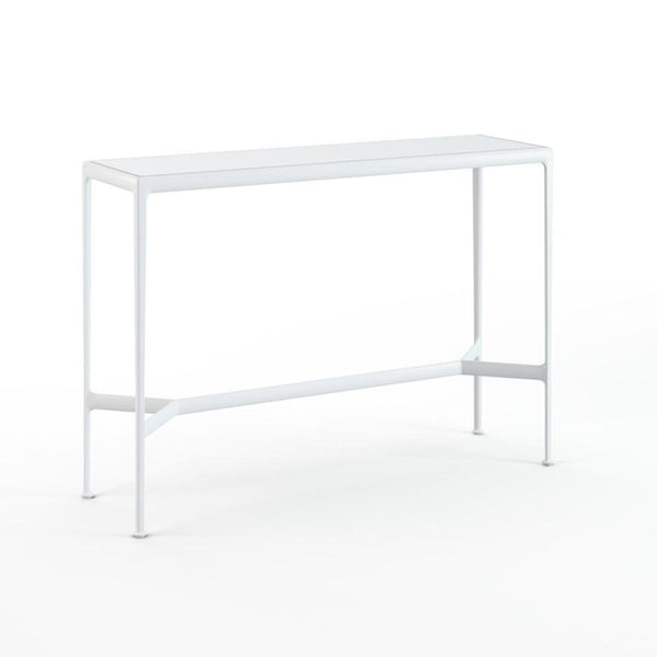 "Knoll - 1966 High Table - 60"" x 18"" - White Porcelain/White / Bar Height - Lekker Home"