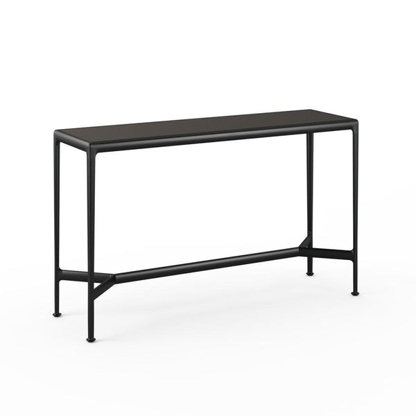 "Knoll - 1966 High Table - 60"" x 18"" - Dark Bronze Porcelain/Onyx / Counter Height - Lekker Home"