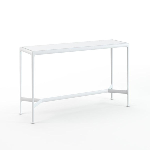 "Knoll - 1966 High Table - 60"" x 18"" - White Porcelain/White / Counter Height - Lekker Home"