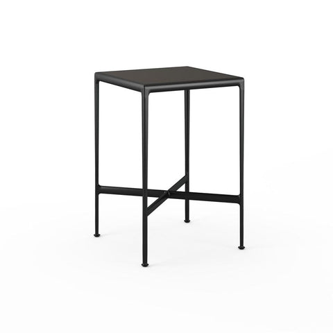 "Knoll - 1966 High Table - 28"" x 28"" - Dark Bronze Porcelain/Onyx / Bar Height - Lekker Home"