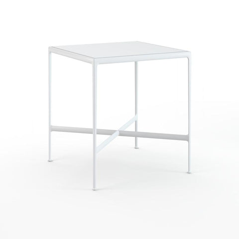 "Knoll - 1966 High Table - 38"" x 38"" - White Porcelain/White / Bar Height - Lekker Home"