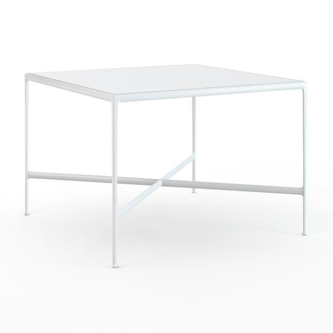 "Knoll - 1966 High Table - 60"" x 60"" - White Porcelain/White / Bar Height - Lekker Home"