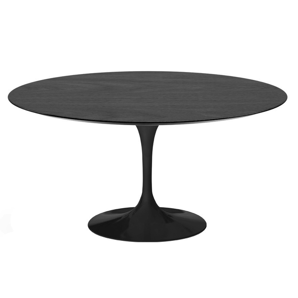 "Knoll - Saarinen Dining Table 60"" Round - Ebonized Walnut / Black - Lekker Home"