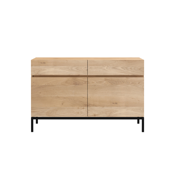 Ethnicraft NV - Ligna Sideboard - 2 Doors / Black Metal - Lekker Home