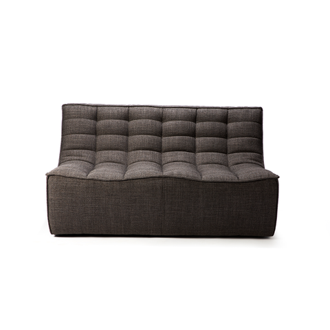 Ethnicraft NV - N701 Sofa - Dark Grey / Two Seater - Lekker Home