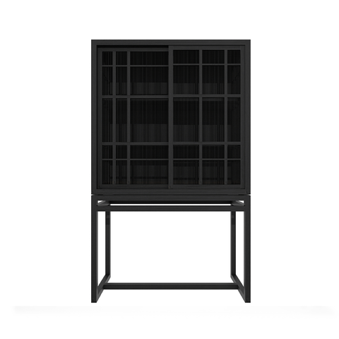 Ethnicraft NV - Burung Storage Cupboard - Black / Two Doors - Lekker Home