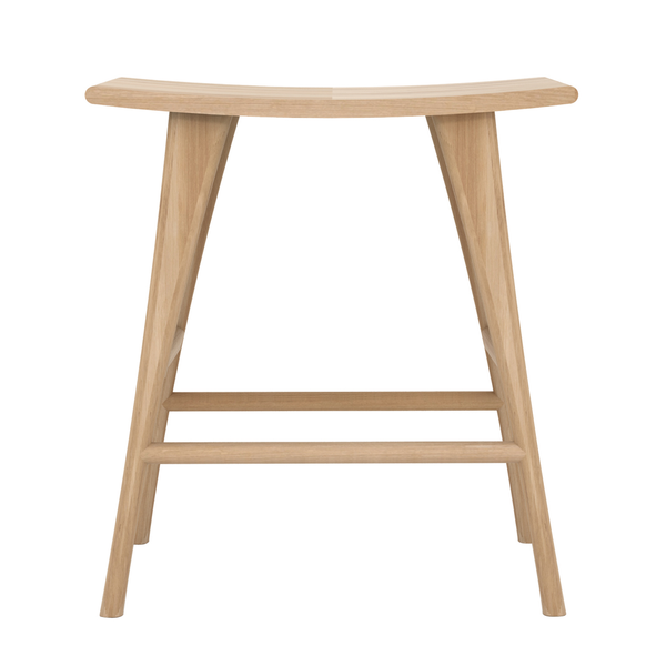 Ethnicraft NV - Osso Stool - White Oiled Oak / Counter - Lekker Home