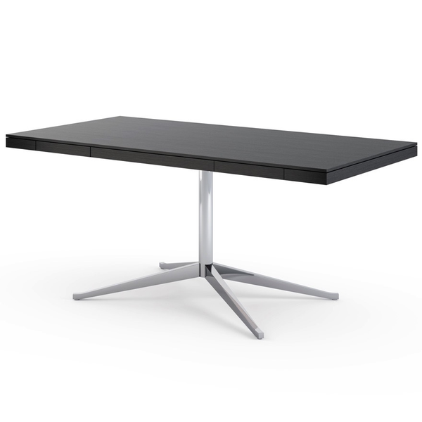 Knoll - Florence Knoll Executive Desk - Polished Chrome / Ebonized Oak - Lekker Home