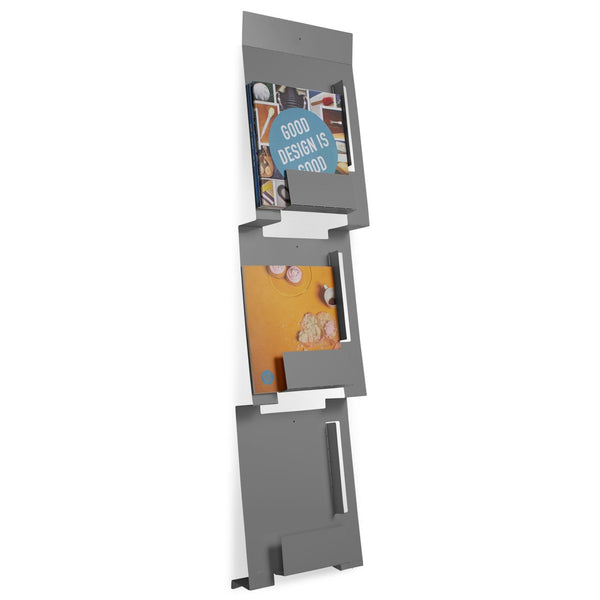 white wood magazine rack wall mounted mount plans free acrylic gm gunmetal